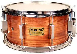 "USA Custom Snare: 7""x13"" P'Lux American Black Walnut"