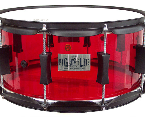 Pork Pie Acrylic Snare: Red Piglite