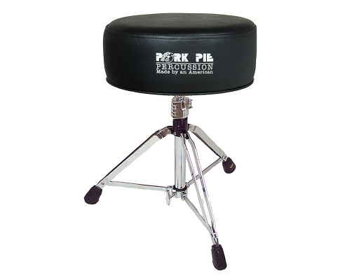 Pork Pie Drum Thrones: Round Gel / All Vinyl Black