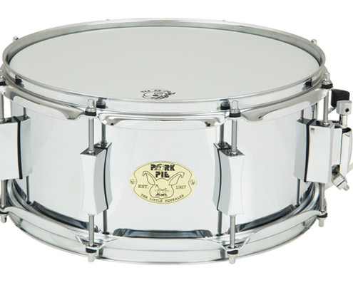 "Pork Pie Little Squealer Snare: 6""x""13"" Steel Chrome"