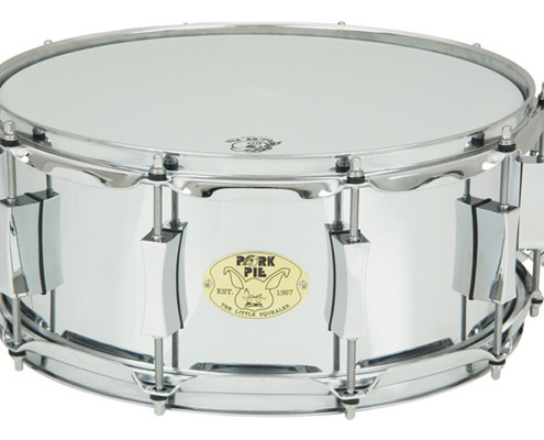 "Pork Pie Little Squealer Snare: 6""x""14"" Steel Chrome"