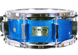 USA Custom Snare: Blue Sparkle Hi- Gloss