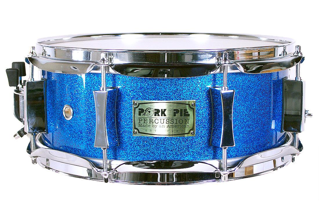 USA Custom Snare: Blue Sparkle Hi- Gloss