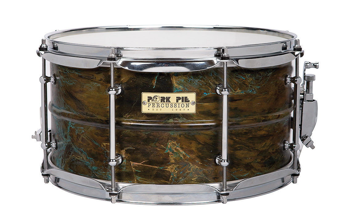 USA Custom Specialty Snare: Patina Brass