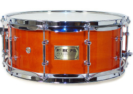 USA Custom Snare: Burnt Orange Hi-Gloss Snare