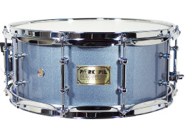 USA Custom Snare: Porcaro Blue Hi-Gloss Snare