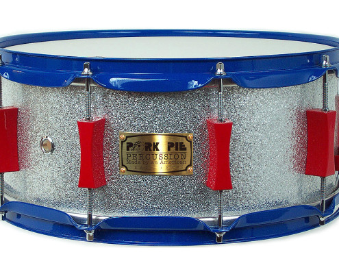 USA Custom Snare: Silver Sparkle Wrap