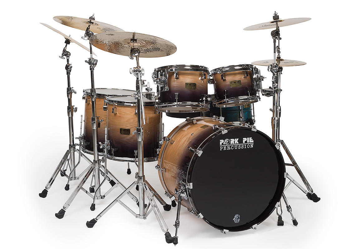 Pork Pie USA Custom: 100% Oak Kit with Candy Black Fade