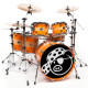 Pork Pie USA Custom Kit: Curly Maple with Orange Stripes
