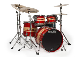 Pork Pie USA Custom Kit: Maple with Red -Orange Stripes