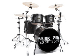 Pork Pie USA Custom Kit: Metallic Black Satin with Gloss Black Hardware