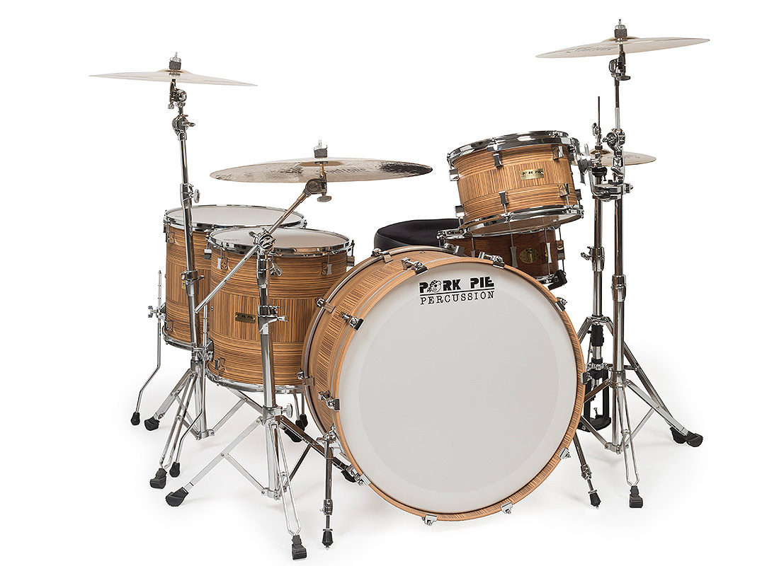 Pork Pie USA Custom Kit: Zebrawood Striped