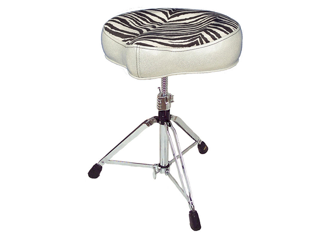 Pork Pie Drum Thrones: Big Boy Silver Zebra
