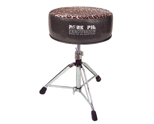 Pork Pie Drum Thrones: Round Charcoal Leopard