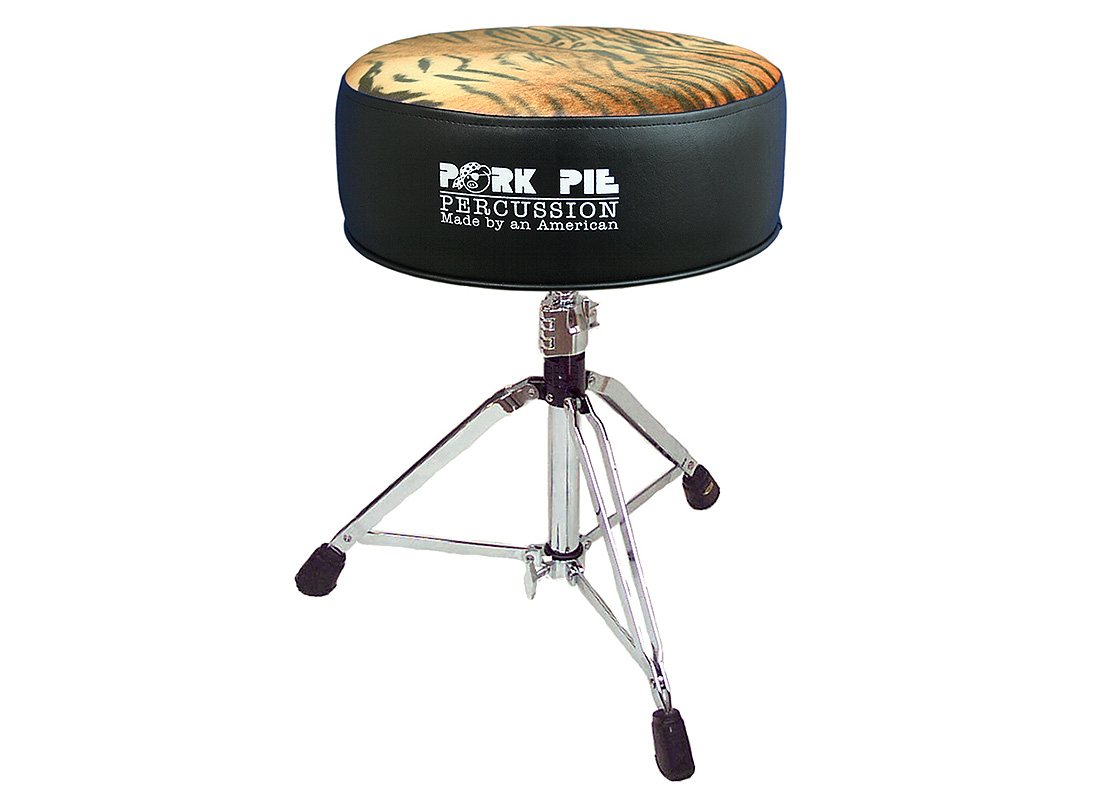 Pork Pie Drum Thrones: Round Black Tiger