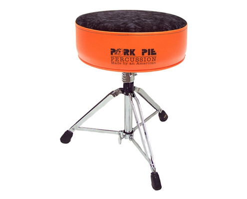 Pork Pie Drum Thrones: Round Flat Orange Black Crush