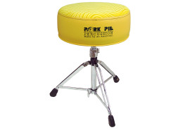 Pork Pie Drum Thrones: Round Flat Yellow / Yellow Swirl