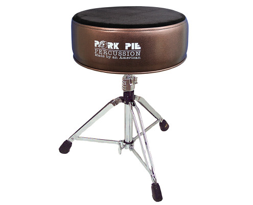 Pork Pie Drum Thrones: Round Metallic Bronze Flat Black