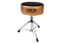 Pork Pie Drum Thrones: Round Metallic Gold/Black Crush