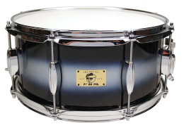 "Pork Pie Hip Pig Snare: 6.5""x14"" Blue Silver Duco"