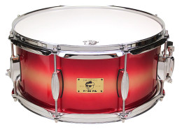 "Pork Pie Hip Pig Snare: 6.5""x14"" Red Gold Duco"