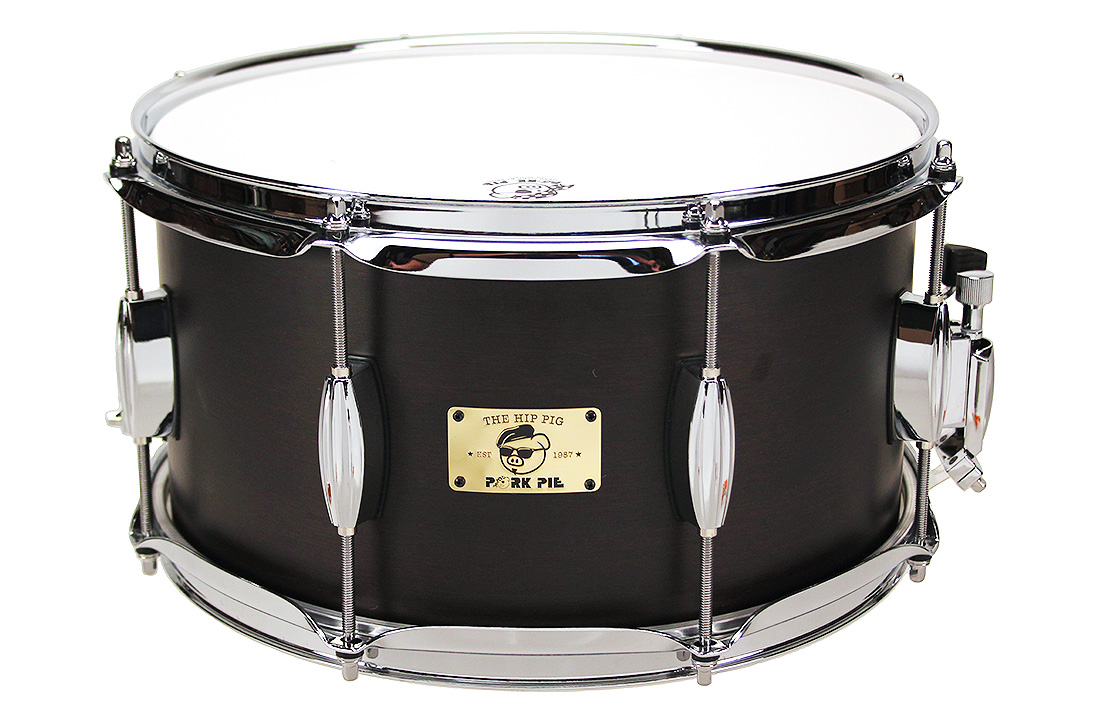 "Pork Pie Hip Pig Snare: 7""x13"" Black Ebony Stain"