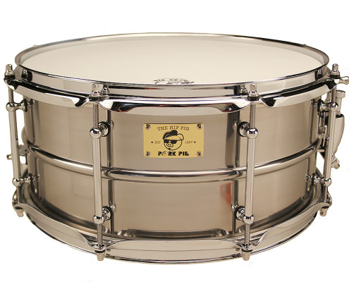 Pork Pie Hip Pig Snare: 6.5x14 Pig Iron Polished