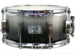 Pork Pie Little Squealer Snare: 6x12 Maple Birch / Metallic Gray to Black Fade