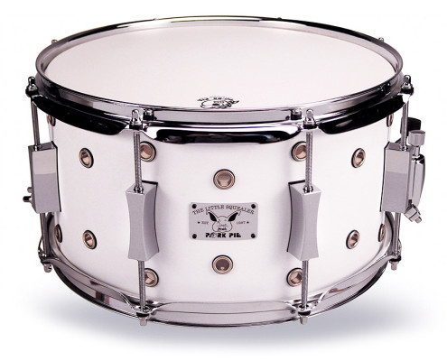Pork Pie Little Squealer Snare: 7x13 Vented White Satin