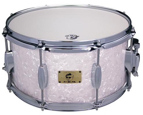 Pork Pie Hip Pig Snare: 7×13 White Marine Pearl