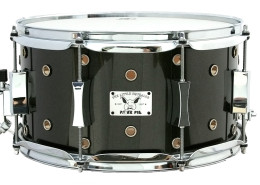 Pork Pie Little Squealer Snare: 7x13 Vented Maple Birch / Mettallic Gray Lacquer