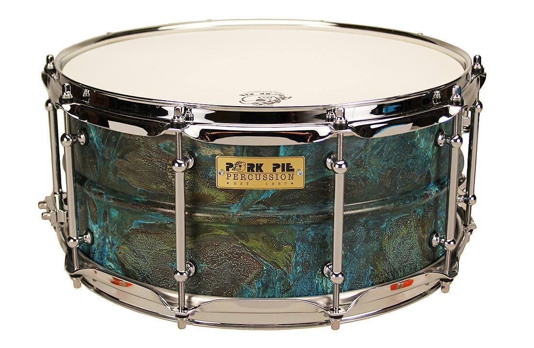 Pork Pie USA Custom Snare: 6.5x14 Patina Brass