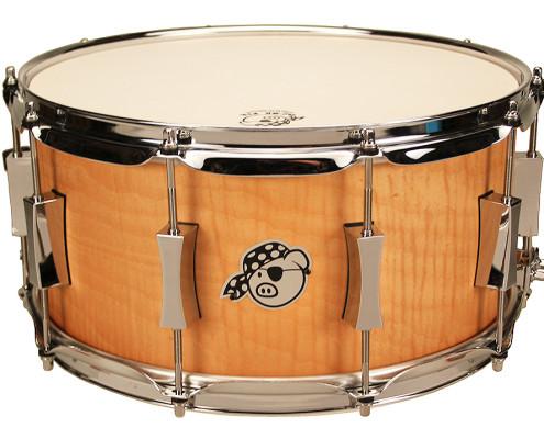 Pork Pie USA Custom Snare: 7x14 Pig Maple Brass