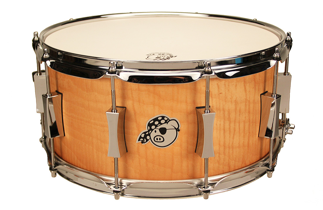 Pork Pie USA Custom Snare: 7x14 Pig Maple Brass