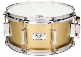 Pork Pie Little Squealer Snare: 6x12 Maple Birch Gold Champagne