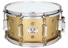 Pork Pie Little Squealer Snare: 7x13 Maple Birch Gold Champagne Vented