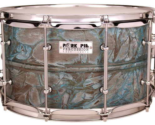 Pork Pie USA Custom Snare: 8x14 Patina Brass Specialty Snare
