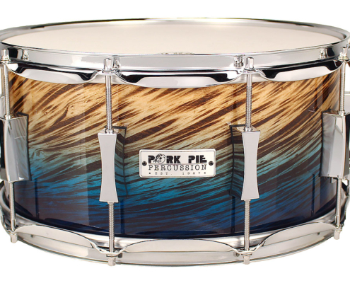 Pork Pie USA Custom Snare: 7x14 Blue Fade Dip Specialty Snare