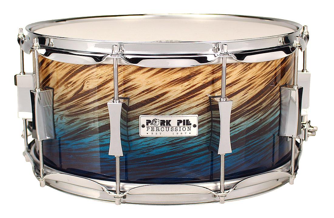 Pork Pie USA Custom Snare: 7x14 Blue Fade Dip Specialty Snare
