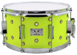 "Pork Pie Little Squealer Snare: 7""x13"" Vented Neon Yellow"
