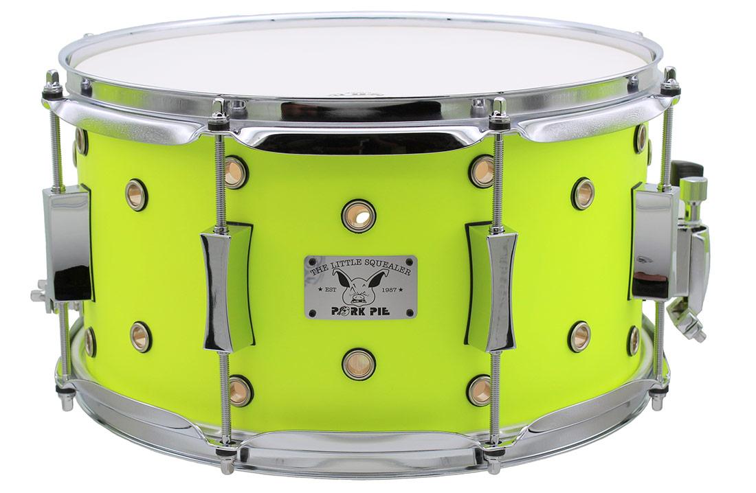 "Pork Pie Little Squealer Snare: 7""x13"" Vented Neon Yellow"