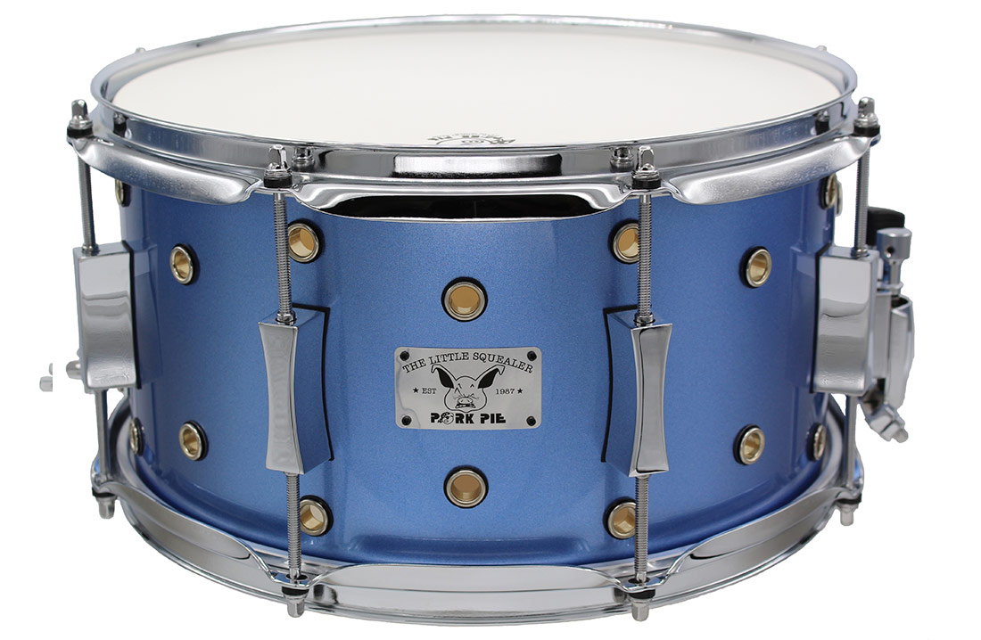 "Pork Pie Little Squealer Snare: 7""x13"" Vented Porcaro Blue Metallic"