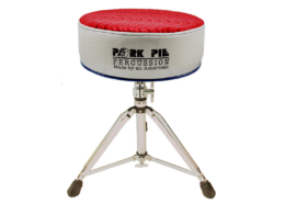 Pork Pie Throne: Round Red Silver and Blue