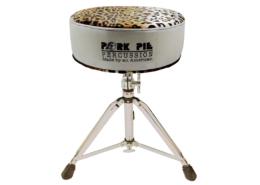 Pork Pie Throne: Round Silver Sparkle/Leopard Top