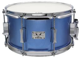 """Pork Pie Little Squealer Snare: 7""""x13"""" Maple Birch Porcaro Blue Metallic"""