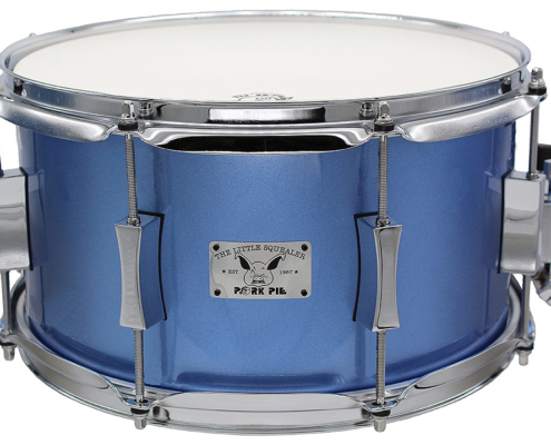 "Pork Pie Little Squealer Snare: 7""x13"" Maple Birch Porcaro Blue Metallic"