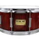 Pork Pie USA Custom Snare: 6.5x14 Fiddleback Hickory Rosewood Satin Finish