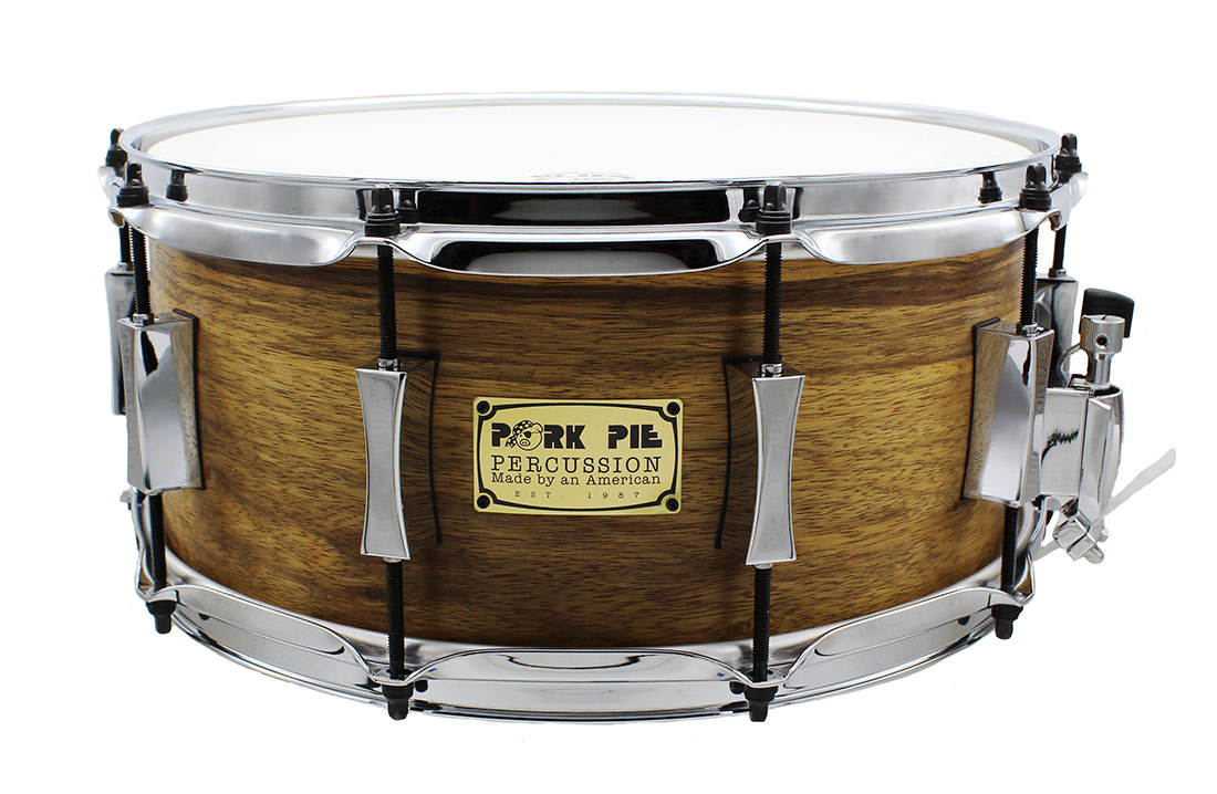 Pork Pie USA Custom Snare: 7x13 Oak with African Marble